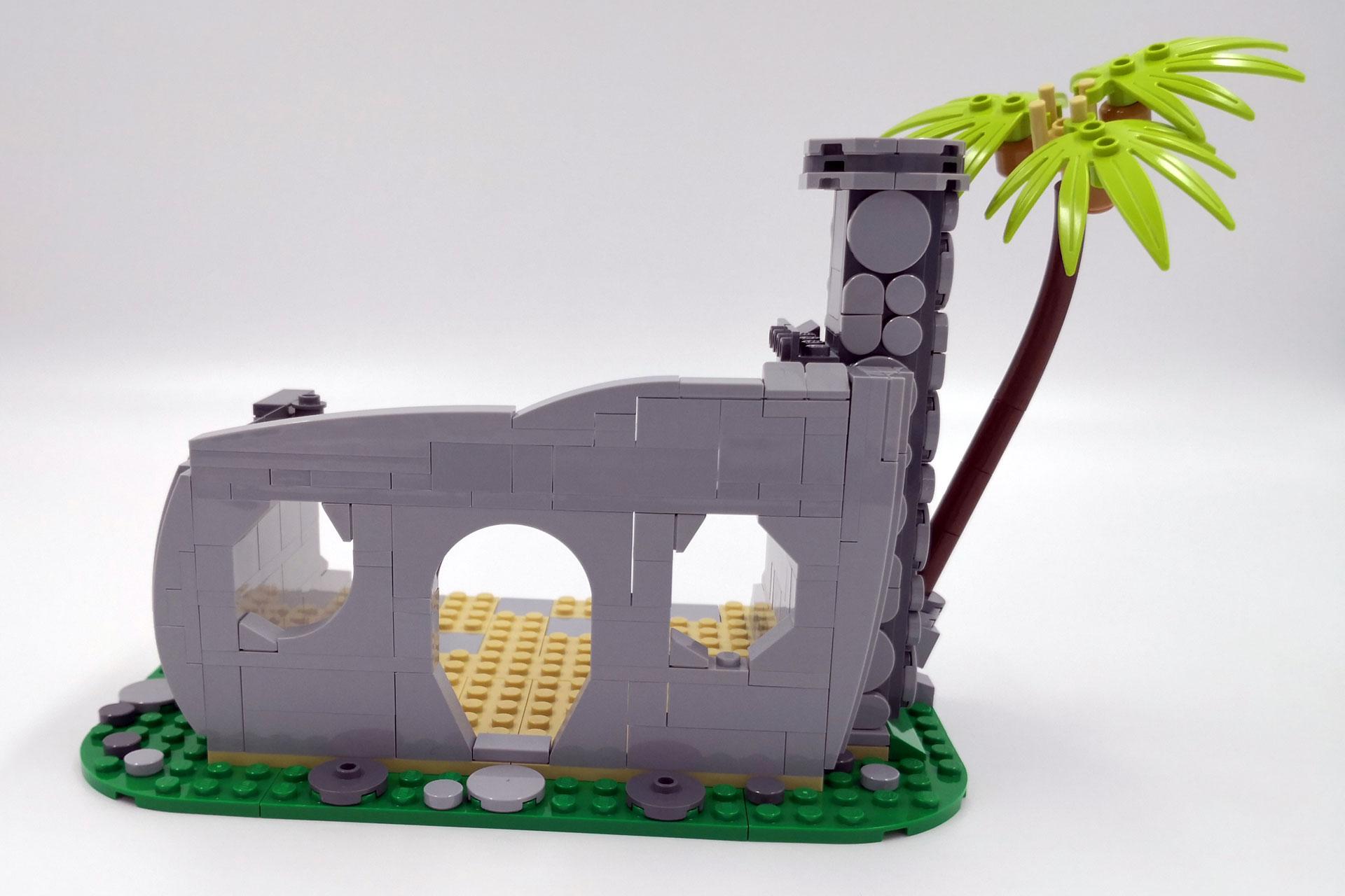 LEGO 21316 The Flintstones - Rohbau mit Schornstein und Palme